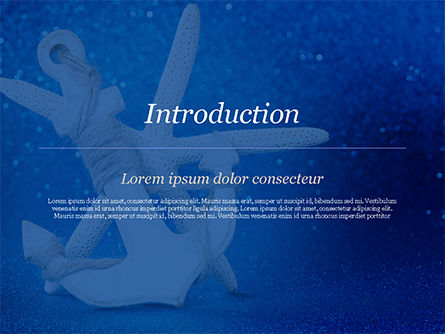 Anchor and Starfish PowerPoint Template, Slide 3, 15155, Holiday/Special Occasion — PoweredTemplate.com