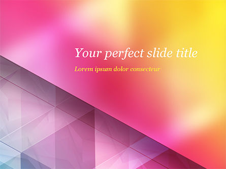 Color Gradient and Triangles PowerPoint Template, 15160, Abstract/Textures — PoweredTemplate.com