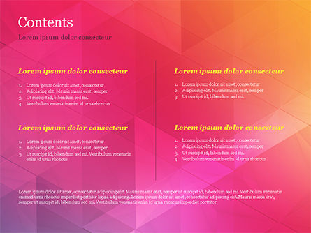 Color Gradient and Triangles PowerPoint Template, Slide 2, 15160, Abstract/Textures — PoweredTemplate.com