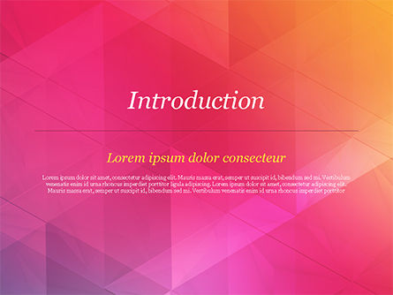 Color Gradient and Triangles PowerPoint Template, Slide 3, 15160, Abstract/Textures — PoweredTemplate.com