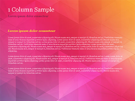 Color Gradient and Triangles PowerPoint Template, Slide 4, 15160, Abstract/Textures — PoweredTemplate.com