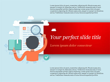 Information Search Illustration PowerPoint Template, 15161, Education & Training — PoweredTemplate.com
