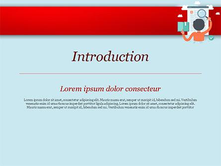 情報検索イラスト Powerpointテンプレート背景 15161