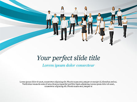 Various People PowerPoint Template, 15163, People — PoweredTemplate.com