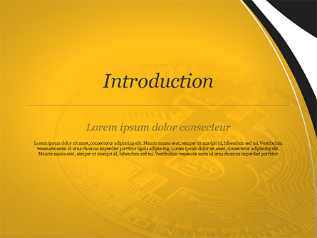 Bitcoin Coin PowerPoint Template, Slide 3, 15164, Technology and Science — PoweredTemplate.com