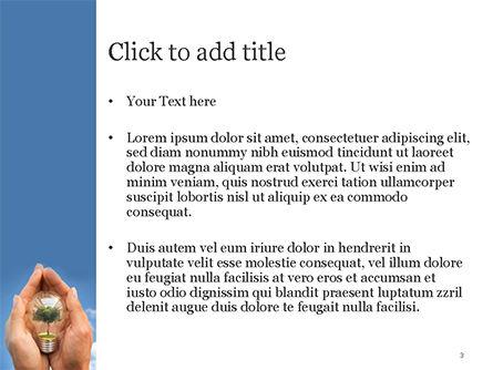 Light Bulb with Tree Inside PowerPoint Template, Slide 3, 15165, Nature & Environment — PoweredTemplate.com