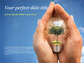 Nature & Environment: Light Bulb with Tree Inside PowerPoint Template #15165