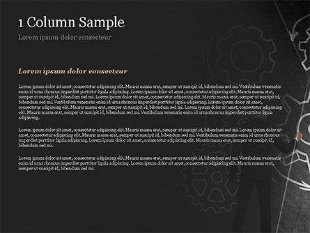 Man at the Chalkboard with Cogwheel Sketch PowerPoint Template, Slide 4, 15166, Business Concepts — PoweredTemplate.com