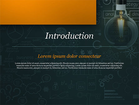 Light Bulb and Blackboard with Formulas PowerPoint Template, Slide 3, 15167, Business Concepts — PoweredTemplate.com