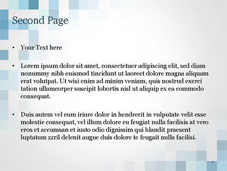 Abstract Blue Pixels PowerPoint Template, Slide 2, 15169, Abstract/Textures — PoweredTemplate.com