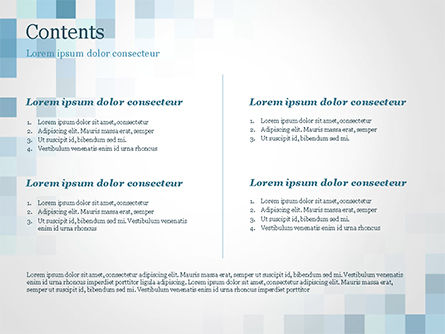Abstract Blue Pixels PowerPoint Template, Slide 2, 15169, Abstract/Textures — PoweredTemplate.com