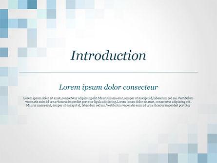 Abstract Blue Pixels PowerPoint Template, Slide 3, 15169, Abstract/Textures — PoweredTemplate.com
