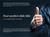 Business Concepts: Man Shows Thumb Up PowerPoint Template #15170