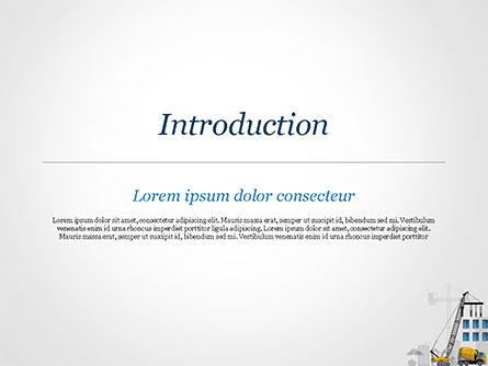 House Building Illustration PowerPoint Template, Slide 3, 15171, Construction — PoweredTemplate.com