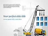 Construction: House Building Illustration PowerPoint Template #15171