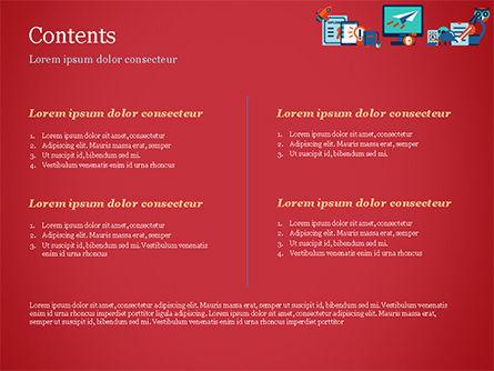 Online Education Concept PowerPoint Template, Slide 2, 15172, Education & Training — PoweredTemplate.com