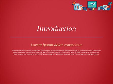 Online Education Concept PowerPoint Template, Slide 3, 15172, Education & Training — PoweredTemplate.com