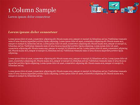 Online Education Concept PowerPoint Template, Slide 4, 15172, Education & Training — PoweredTemplate.com