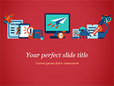 Education & Training: Online Education Concept PowerPoint Template #15172