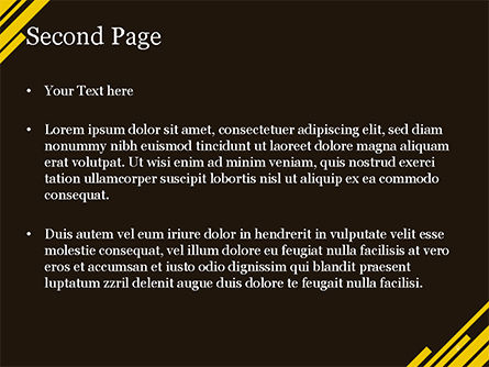 Yellow Rectangles PowerPoint Template, Slide 2, 15173, Abstract/Textures — PoweredTemplate.com