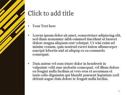 Yellow Rectangles PowerPoint Template, Slide 3, 15173, Abstract/Textures — PoweredTemplate.com