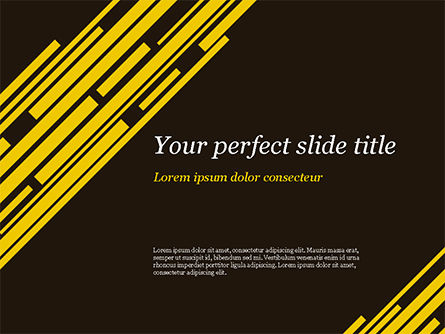 Yellow Rectangles PowerPoint Template, 15173, Abstract/Textures — PoweredTemplate.com