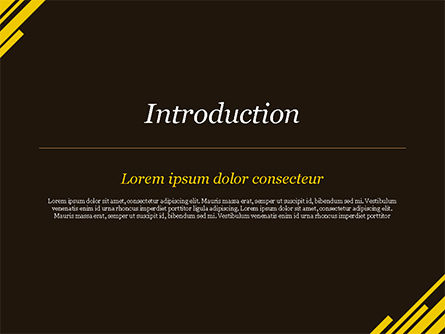 Yellow Rectangles PowerPoint Template, Slide 3, 15173, Abstract/Textures — PoweredTemplate.com