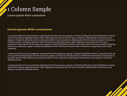 Yellow Rectangles PowerPoint Template, Slide 4, 15173, Abstract/Textures — PoweredTemplate.com