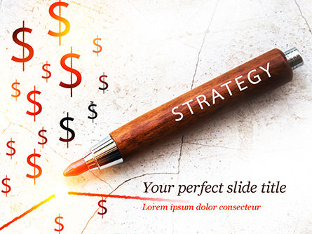 Business Concepts: Inscription Strategy on Pencil PowerPoint Template #15174
