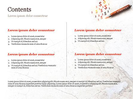 Inscription Strategy on Pencil PowerPoint Template, Slide 2, 15174, Business Concepts — PoweredTemplate.com