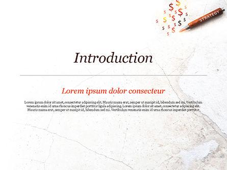 Inscription Strategy on Pencil PowerPoint Template, Slide 3, 15174, Business Concepts — PoweredTemplate.com