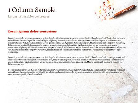 Inscription Strategy on Pencil PowerPoint Template, Slide 4, 15174, Business Concepts — PoweredTemplate.com