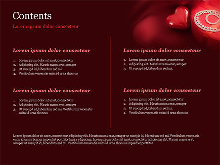 Marzipan Heart PowerPoint Template, Slide 2, 15176, Holiday/Special Occasion — PoweredTemplate.com