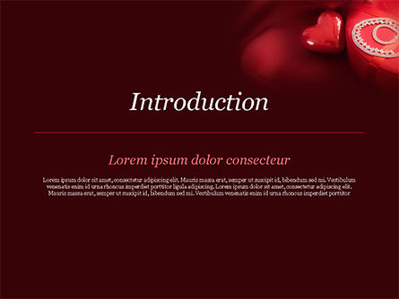 Marzipan Heart PowerPoint Template, Slide 3, 15176, Holiday/Special Occasion — PoweredTemplate.com