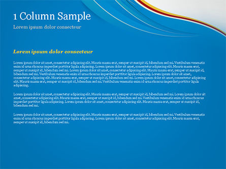 Abstract Blue Wave with Three-Colored Strip PowerPoint Template, Slide 4, 15177, Abstract/Textures — PoweredTemplate.com