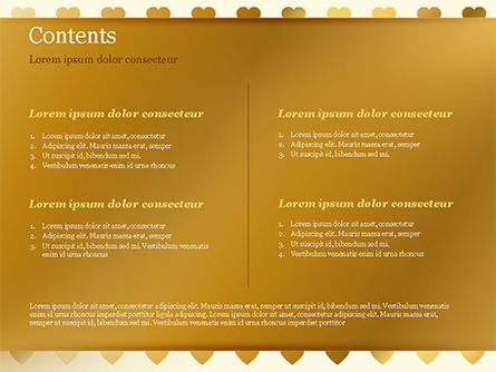 Background of Golden Hearts PowerPoint Template, Slide 2, 15180, Holiday/Special Occasion — PoweredTemplate.com