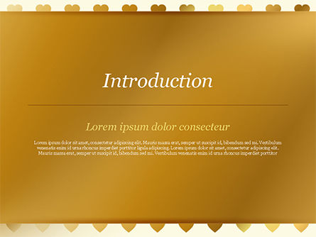 Background of Golden Hearts PowerPoint Template, Slide 3, 15180, Holiday/Special Occasion — PoweredTemplate.com