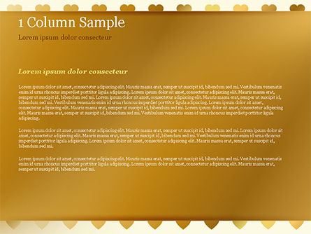 Background of Golden Hearts PowerPoint Template, Slide 4, 15180, Holiday/Special Occasion — PoweredTemplate.com