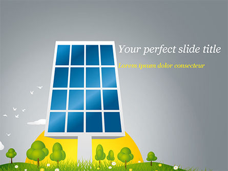 Solar Energy Powerpoint Template Backgrounds 15182