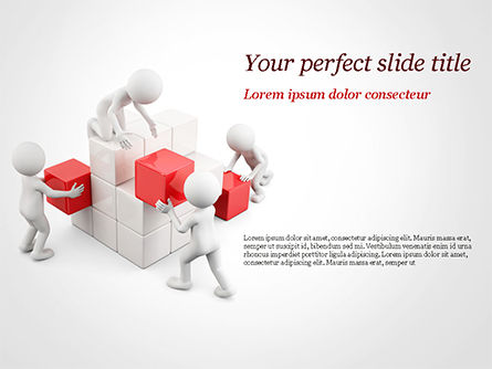3D: 3D Teamwork PowerPoint Template #15183
