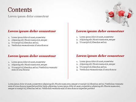 3D Teamwork PowerPoint Template, Slide 2, 15183, 3D — PoweredTemplate.com
