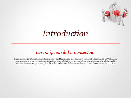 3D Teamwork PowerPoint Template, Slide 3, 15183, 3D — PoweredTemplate.com