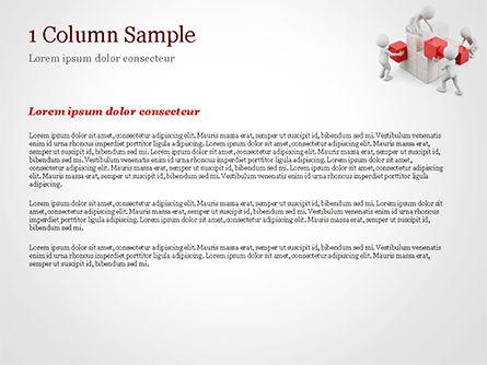 3D Teamwork PowerPoint Template, Slide 4, 15183, 3D — PoweredTemplate.com