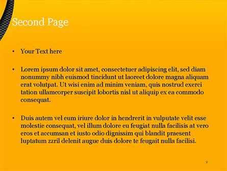 Hexagonal Surface under Yellow Layers PowerPoint Template, Slide 2, 15185, Abstract/Textures — PoweredTemplate.com