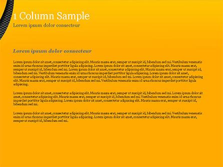 Hexagonal Surface under Yellow Layers PowerPoint Template, Slide 4, 15185, Abstract/Textures — PoweredTemplate.com
