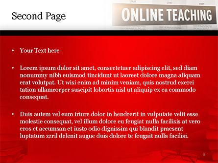 Online Teaching PowerPoint Template, Slide 2, 15186, Education & Training — PoweredTemplate.com