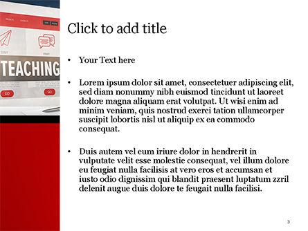 Online Teaching PowerPoint Template, Slide 3, 15186, Education & Training — PoweredTemplate.com