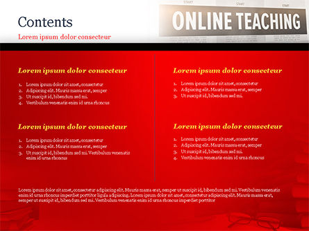 Online Teaching PowerPoint Template, Slide 2, 15186, Education & Training — PoweredTemplate.com