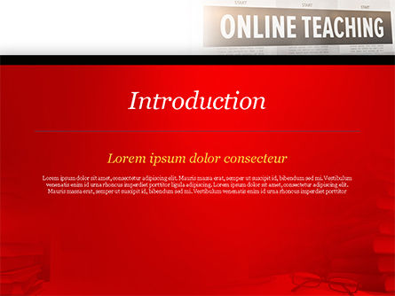 Online Teaching PowerPoint Template, Slide 3, 15186, Education & Training — PoweredTemplate.com