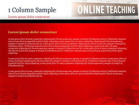 Online Teaching PowerPoint Template, Slide 4, 15186, Education & Training — PoweredTemplate.com